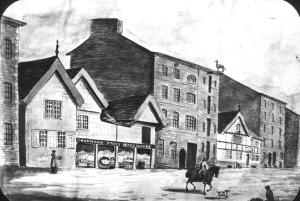 Fennel Street in 1820 by Thomas Barrit, Chetham's Library
