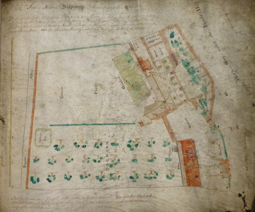 Property on Shude-Hill c. 1760-83, Hulme Deeds, Cheham's Library
